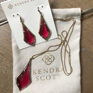 Never worn Kendra Scott Olivia set